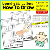 Alphabet Activities: How to Draw
