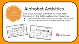 Alphabet Activities- Initial Letter Matching Resource