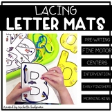 Alphabet Activities | Lacing Letter Mats | Fine Motor | La