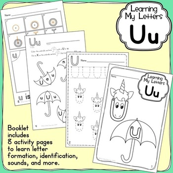 Alphabet Activities Learning My Letters [Uu] by Pamela Hyer