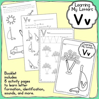 Alphabet Activities: Learning My Letters [Vv]