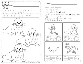 Alphabet Activities: Learning My Letters [Ww]