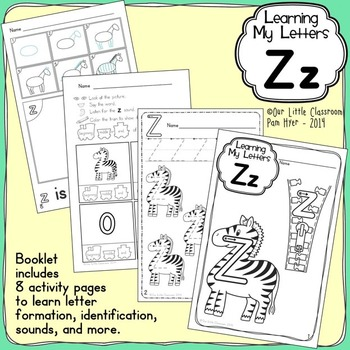 Alphabet Activities: Learning My Letters [Zz]