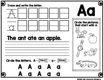 Alphabet Activities - Letter A