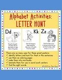 Alphabet Activities:  Letter Hunt