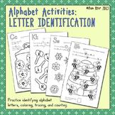 Alphabet Activities:  Letter Identification