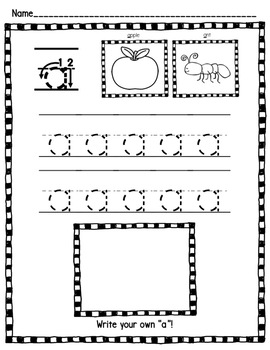 Alphabet Activities: Letter Tracing Practice Pages