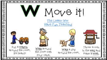 Alphabet Activities Letter of the Week W