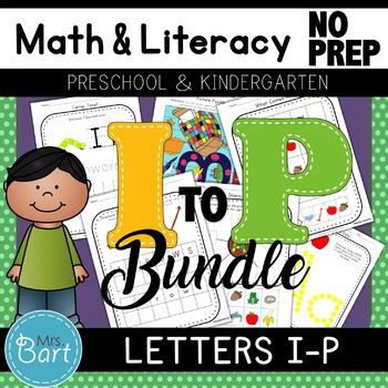 Alphabet Activities: Letters I-P Bundle {Common Core}