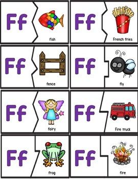 Alphabet Activities: Letters & Sounds Mini Puzzles!