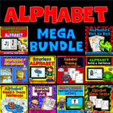 Alphabet Activities Mega Bundle: Boom Cards™ Coloring Pages - Errorless Learning