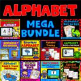 Alphabet Activities MEGA BUNDLE: Coloring Pages -Boom Card