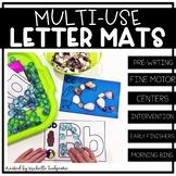 Alphabet Activities | Multi-Use Fine Motor Letter Mats | S
