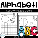 Alphabet Activities - Spin it, trace it, color it