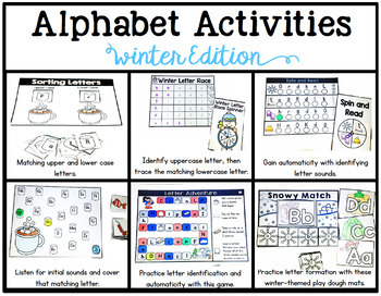 Alphabet Activities: Winter Edition
