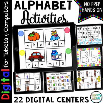 Digital Alphabet Activities: Kindergarten Google Classroom Distance Learning