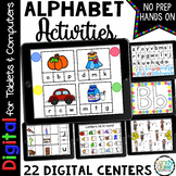 Kindergarten Digital Alphabet Activities Google Slides Classroom Virtual Games