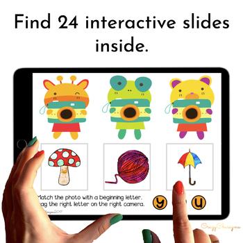 Alphabet Activities for Kindergarten Centers - Cameras for Google Classroom™
