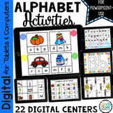 Alphabet Center Activities for Paperless PowerPoint Use& D