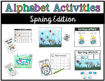 Alphabet Activities for RTI: Seasonal GROWING Bundle