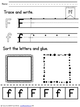 Alphabet Activities~Trace, Write, Sort and Glue