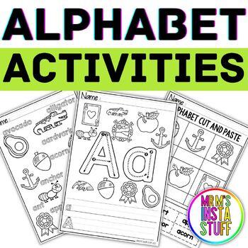 Alphabet Activity Book - Aa