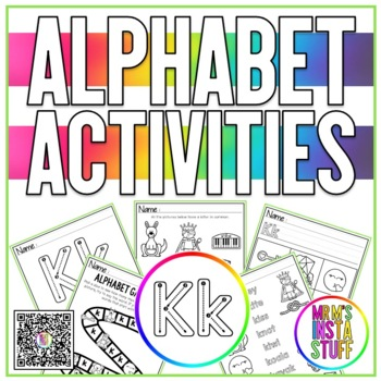 Alphabet Activity Book - Kk