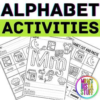 Alphabet Activity Book - Mm