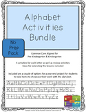 Alphabet Activity Bundle - No Prep (Upper & Lower Case Letters)