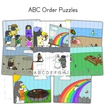 Penguin Theme - Alphabet Activity Bundle