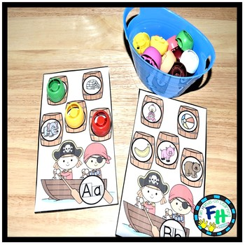 Alphabet Activity Center Pirate Theme