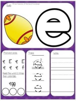 Alphabet Activity Dough Mats {Lowercase Letters}