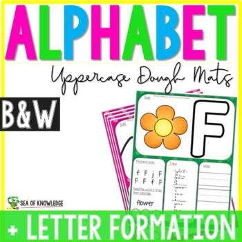 Alphabet Playdough Mats - Uppercase Letter Mats