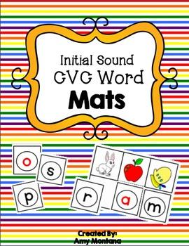 Alphabet Activity {Initial Sound CVC Word Building}