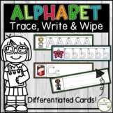 Alphabet Activity - Letter Formation Practice - Trace, Write and Wipe Cards