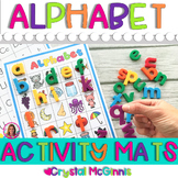 Alphabet Activity Mats (Color and Black & White) Hands On Literacy Centers