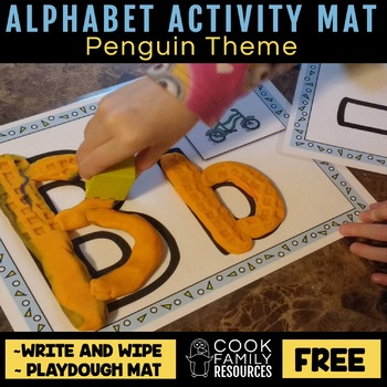 Alphabet Activity Mat Freebie (includes Playdough and Wipe Off Sides)