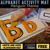 Alphabet Activity Mat Freebie (includes Playdough and Wipe