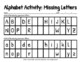 Alphabet Activity: Missing Letters {Two Versions}