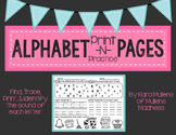 Alphabet Print -N- Practice Activity Pages {Handwriting, L