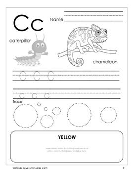 Alphabet Activity Worksheet (black and white)
