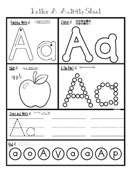 Alphabet Activity Worksheets - Letter Formation, Handwriting, Recognition