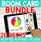Alphabet Adapted Book BOOM Cards™ {26 decks} distance learning