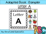 Alphabet Adapted Books Letter A