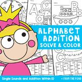 Alphabet Addition Worksheets