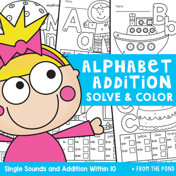 Alphabet Addition Worksheet Activities