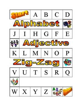 Alphabet Adjective Zig-Zag