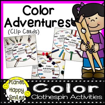 Alphabet Adventures Clip Cards