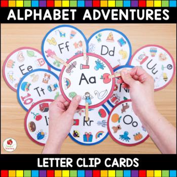Alphabet Adventures - Letter Clip Cards Bundle