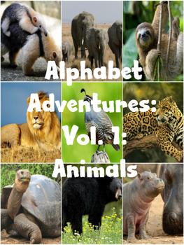 Alphabet Adventures:Vol. 1: Animals with Flashcards
